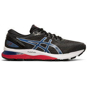 asics Gel-Nimbus 21 Schoenen Heren, black/electric blue